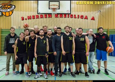 Team Herren-3 der Weddinger Wiesel - Saison 2017/2018