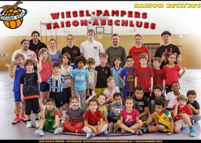 Wiesel-Pampers Saison-Abschluss-Event (Basketball)