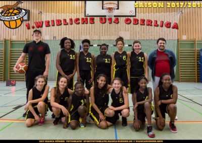 Team weibliche U14-1 Weddinger Wiesel - Saison 2017/2018