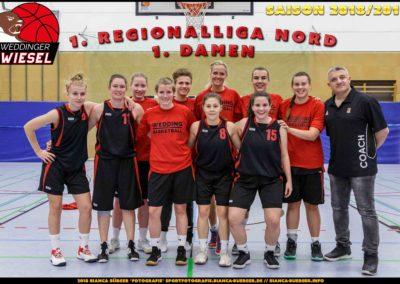 Team 1. Damen Weddinger Wiesel - Saison 2018-2019