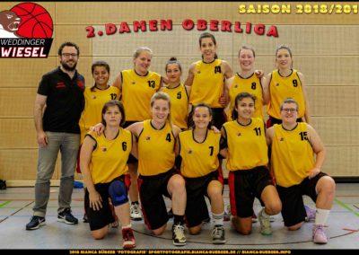 Team 2. Damen Weddinger Wiesel - Saison 2018-2019