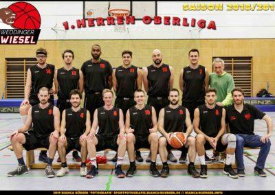 Team 1. Herren Weddinger Wiesel - Saison 2018-2019