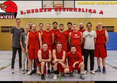 Team 2. Herren Weddinger Wiesel - Saison 2018-2019
