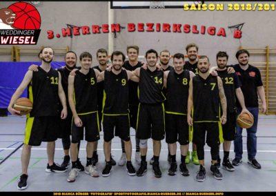 Team 3. Herren Weddinger Wiesel - Saison 2018-2019