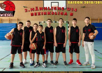 Team 2. mU14 Weddinger Wiesel - Saison 2018-2019