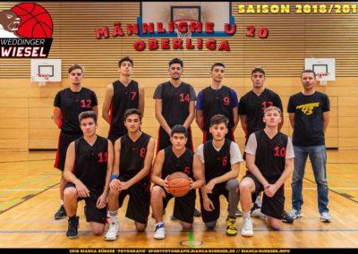 Team mU20 Weddinger Wiesel - Saison 2018-2019