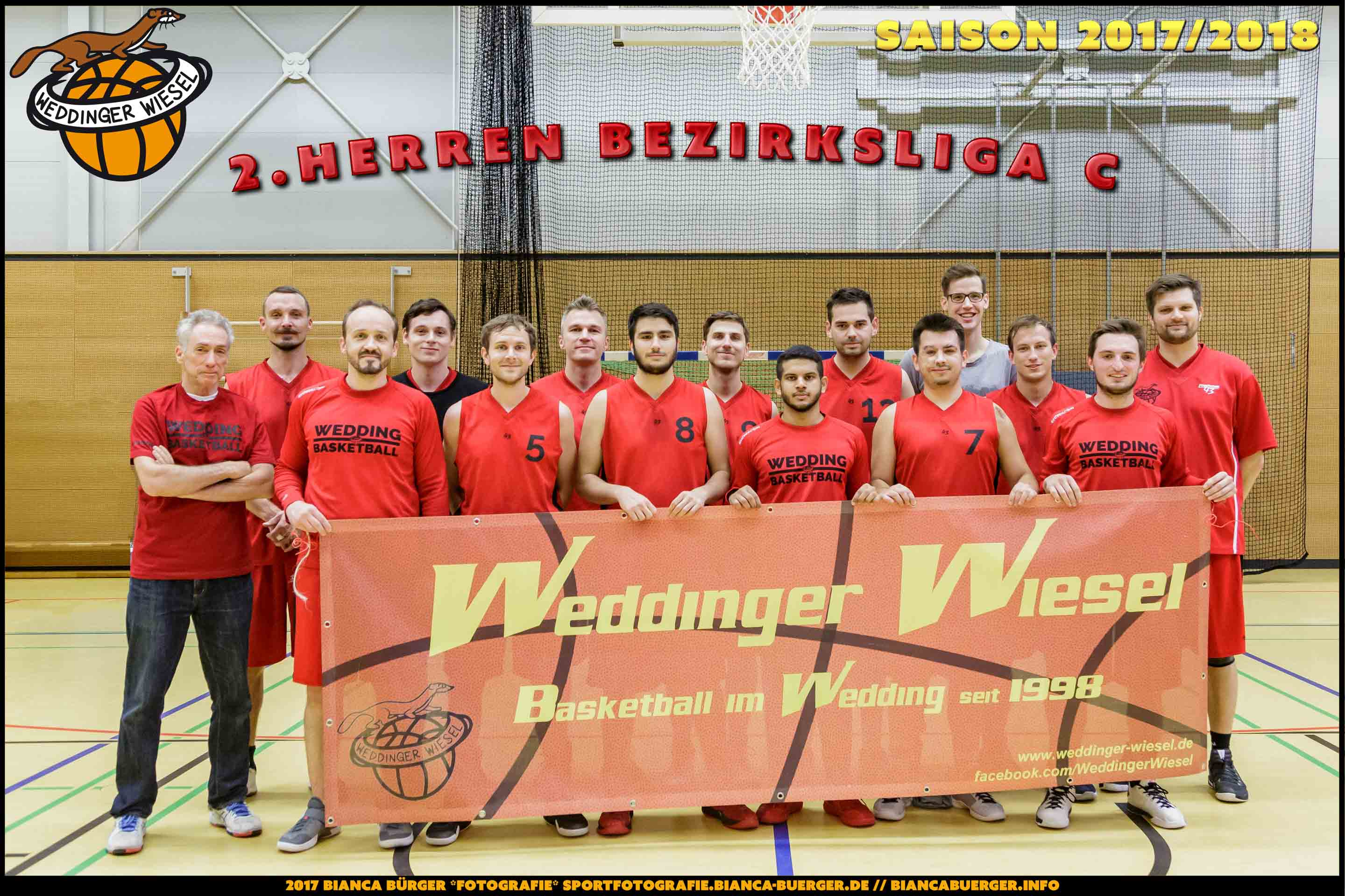 Team Herren-2 der Weddinger Wiesel - Saison 2017/2018