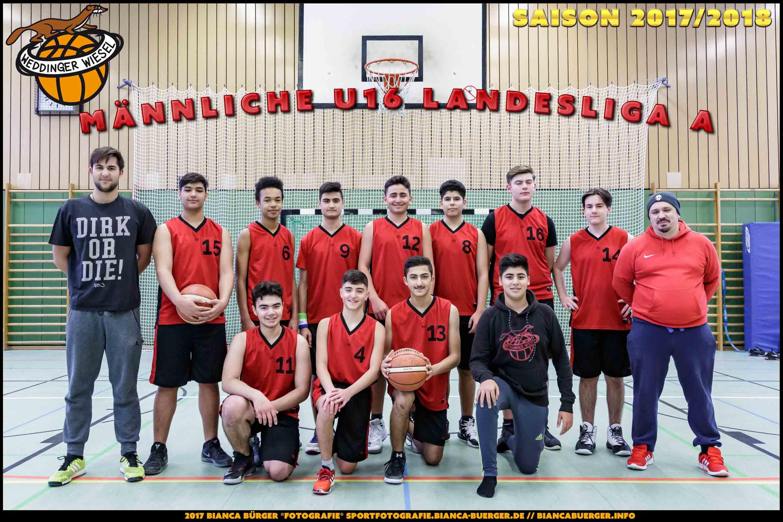 Team mU16 der Weddinger Wiesel - Saison 2017/2018
