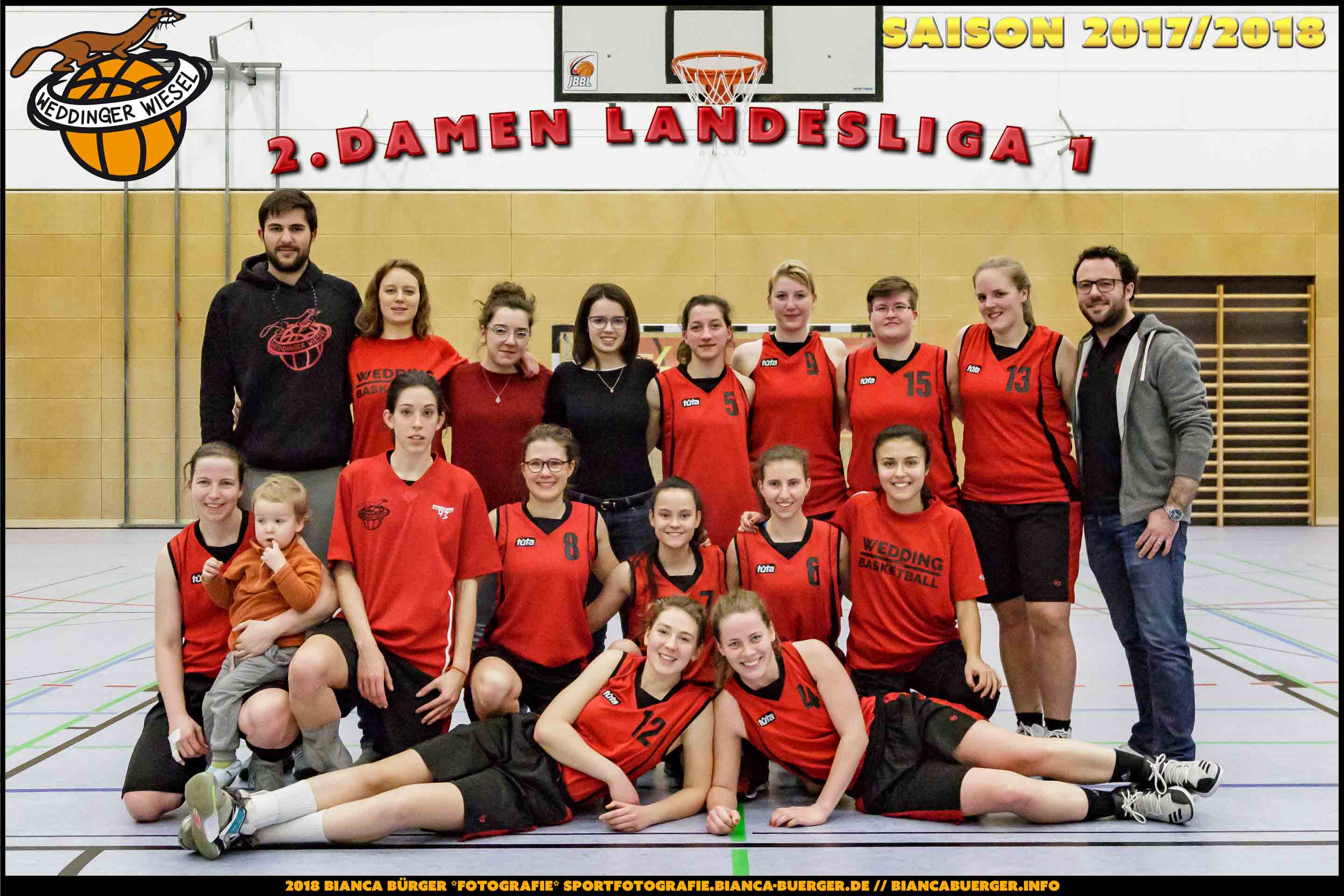 Team 2. Damen der Weddinger Wiesel - Saison 2017/2018
