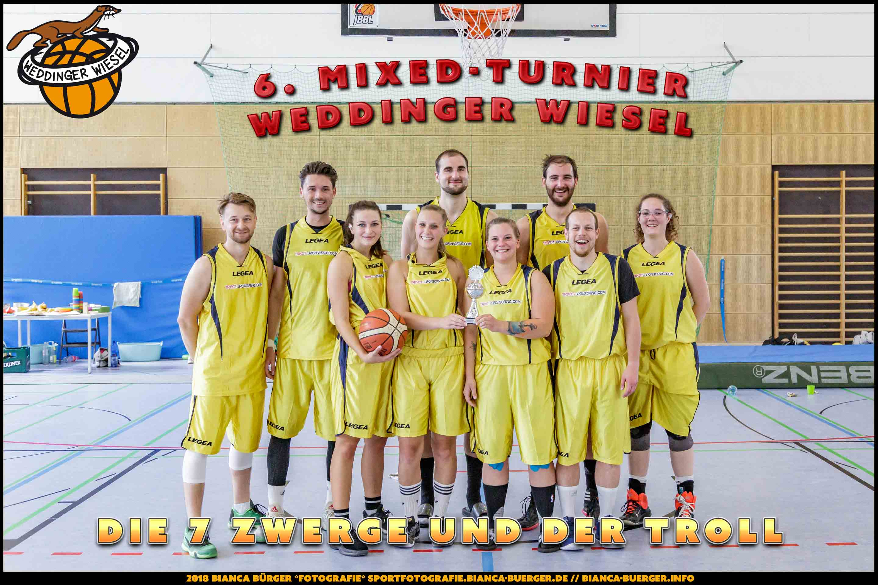 6. Mixed-Turnier der Weddinger Wiesel - Tag 2 (Basketball)