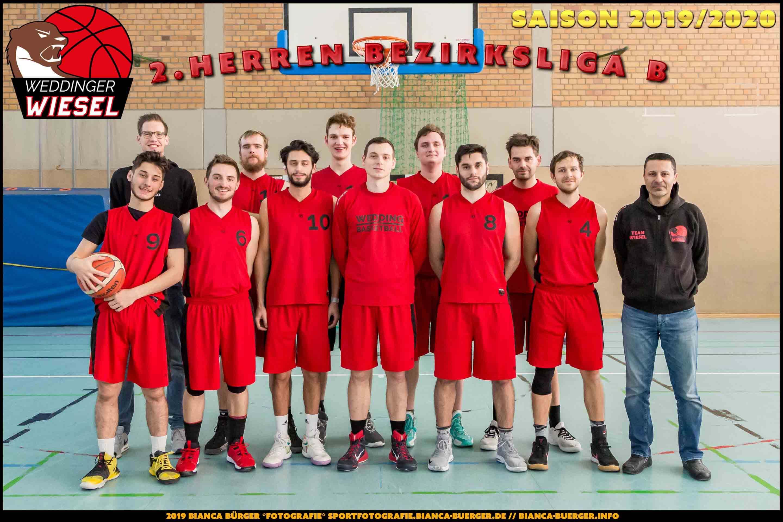 Team 2. Herren Weddinger Wiesel - Saison 2019-2020