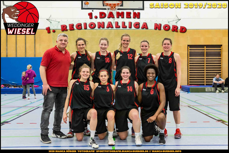 Team 1. Damen Weddinger Wiesel - Saison 2019-2020