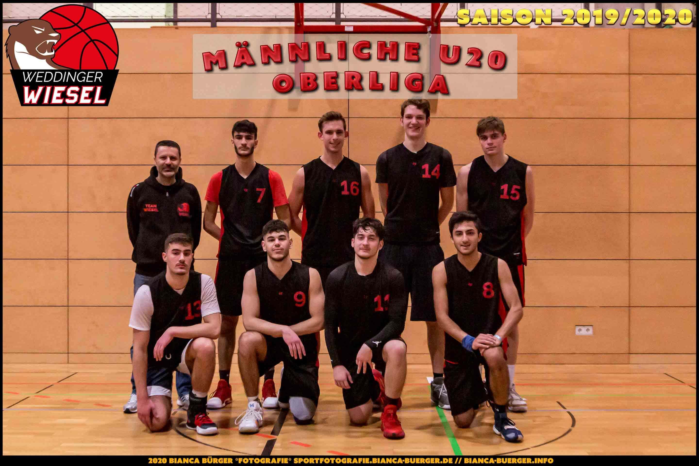 Team männliche U20 Weddinger Wiesel - Saison 2019-2020