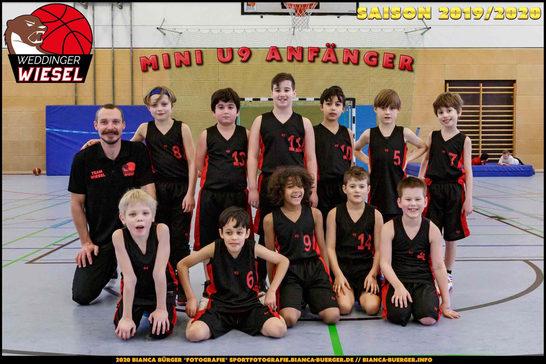 Team Mini U9 Weddinger Wiesel - Saison 2019-2020