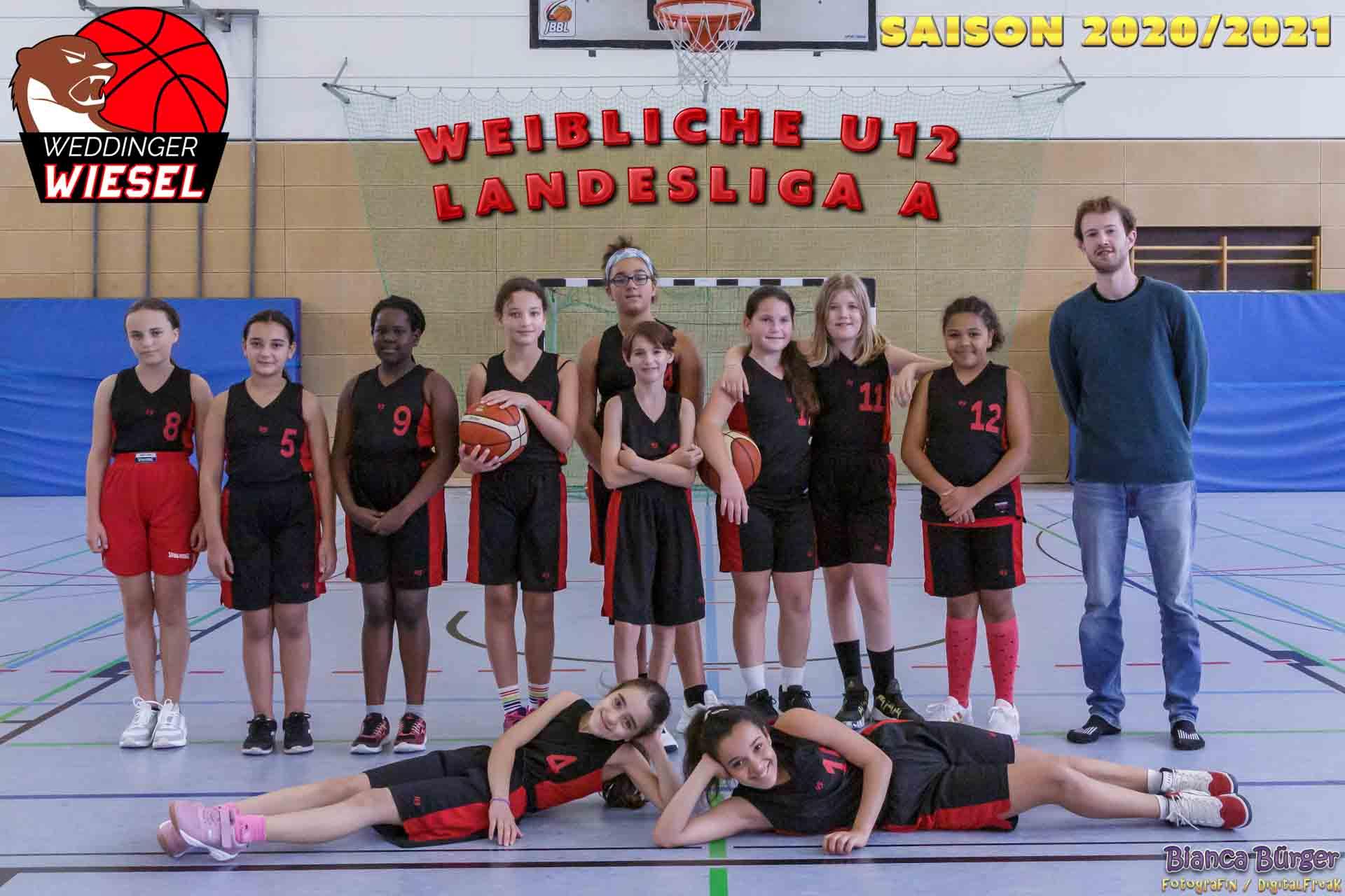 Team wU12 Weddinger Wiesel Saison 2020-2021