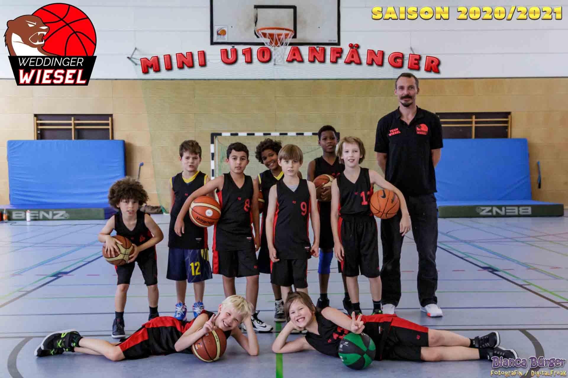 Team Mini U10 A Weddinger Wiesel Saison 2020-2021